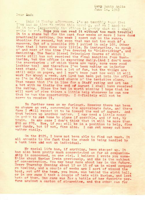 Blog - Lad's Army Life - A Bet and a Band - June, 1943