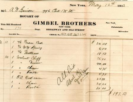 Gimbel Brothers - 1913
