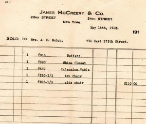 James McCreery and Company - 1913