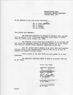 Socony-Vacuum  Club House  Committee - 1939