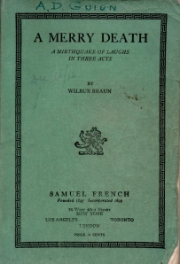 A MERRY DEATH Playbook - 1939