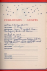 Lad's Service Record - Furloughs.....Leaves 1942-1945