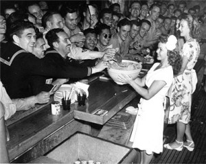Shirley Temple serving the G.I.s