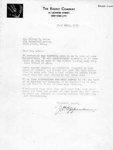 Blog - Letter of condolence - J.P. Oppenheimer