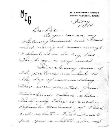 Blog - 2013.10.31 - Lad and Marian's Army Life - Wedding Pictures - Jan., 1944