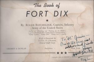 The Book of Fort Dix - Roger Batchelder (Title Page)