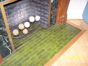 Lincoln Avenue - original tile fireplace hearth