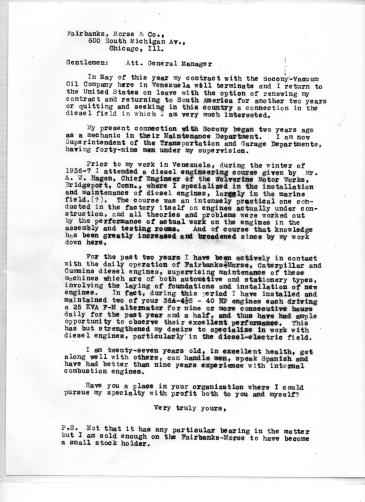 Blog - Fairbanks-Morse letter - final draft - 1941