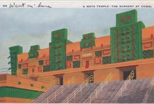CDG - 1934 Chicago Fair Postcard - A Maya Temple - The Nunnery at Uxmal