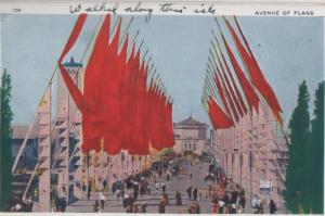 CDG - 1934 Chicago Fair Postcard - Avenue of Flags