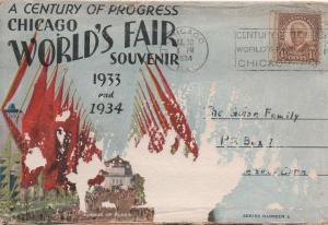 CDG - 1934 Chicago Fair Postcard booklet Cover