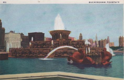 CDG - 1934 Chicago Fair Postcard -Buckingham Fountain
