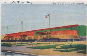 CDG - 1934 Chicago Fair Postcard - Food and Agricultural Building