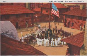 CDG - 1934 Chicago Fair Postcard - Fort Dearborn - The Parade Ground