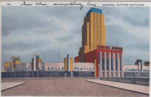 CDG - 1934 Chicago Fair Postcard - General Motors Building
