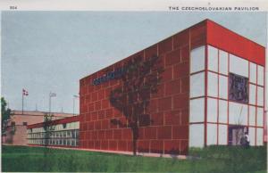 CDG - 1934 Chicago Fair Postcard - The Czeechoslovakian Pavillion