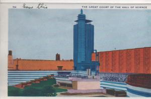 CDG - 1934 Chicago Fair Postcard - The Great Court of the Hall of Science
