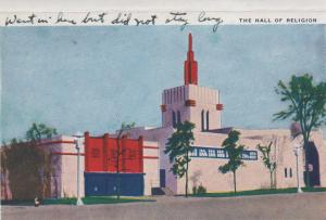 CDG - 1934 Chicago Fair Postcard - The Hall of Religion