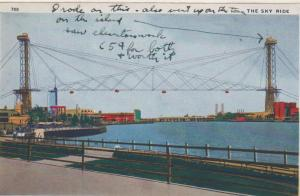 CDG - 1934 Chicago Fair Postcard - The Sky Ride