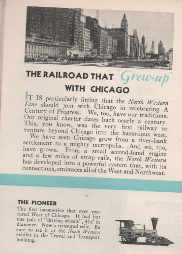 CDG - Chicago Fair - 1934 (The Railroad that Grew Up With Chicago) (2) 1st page