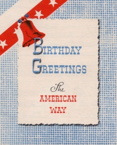 Aunt Betty's birthday card to Lad - (front) - 1941