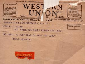 CDG - Telegram from Kenneth Peabody - July 28, 1934