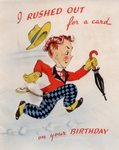 Lad - birthday card from Marian and Burr Davis - (front) - 1941