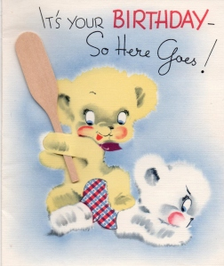Lad - Birthday card from Spanish classmates - (front) - 1941