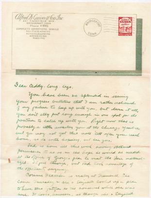 CDG - Grandpa's letter - Aug 8, 1934