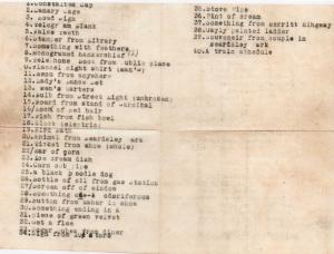 CDG - Scavenger List for Arnold Gibson's Party - Aug., 1934