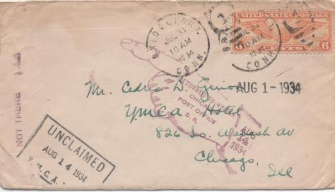 CDG - Lost letter, July 30, 1934