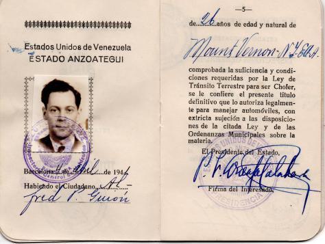 Lad - Venezuelan Passport - 1941