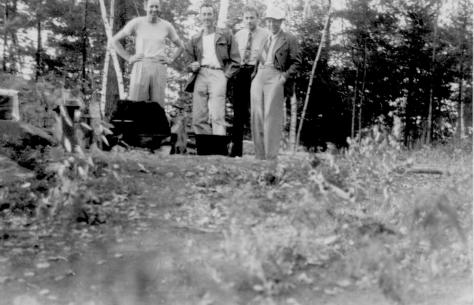 ADG - Spring Island with Lad, Dick Ced and Grandpa - 1948