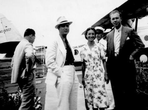 APG - Flor and Martin Williams, Bob Ross, visiting from Trinidad, April, 1940