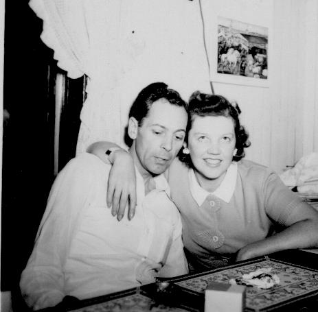 APG - Lad and Marian in kitchen @ 1945