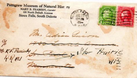 CDG - Coming of Age Adventure - Pettigrew Museum envelope - Aug., 1934.jpeg