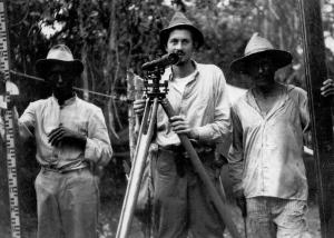 DBG - Dan in Venezuela with two peons - 1940