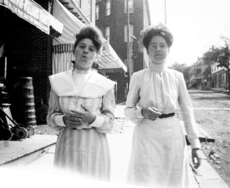 Elsie May Guion and Ella Duryee Guion (maybe), probably Mount Vernon, NY, about 1903