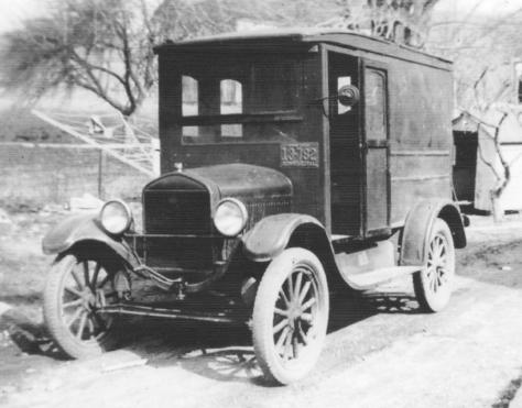 APG - Arnold Gibson's Motel T Ford Camper before FL trip - 1936