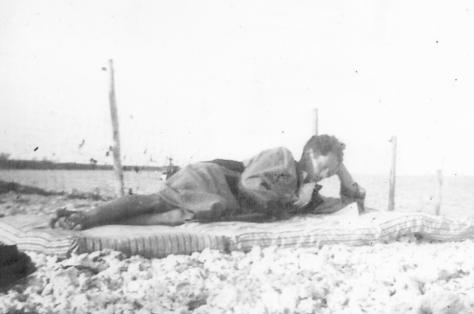 APG - Lad resting on beach in FL - @ 1936