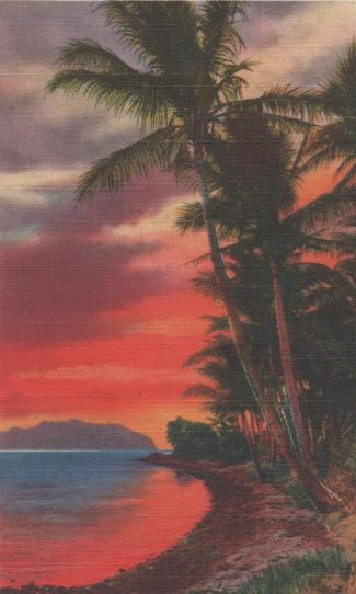 Gibby - Post card to Ced from Hawaii - front, 1944