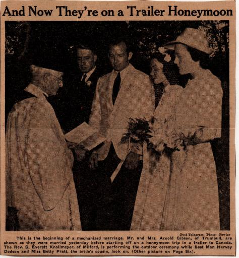 Arnold Gibson wedding ceremony - Sept. 1, 1940