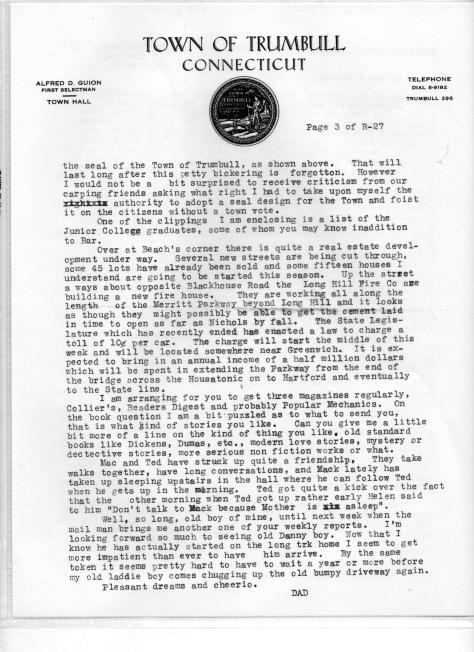 Trumbull Seal letterhead - June, 1939