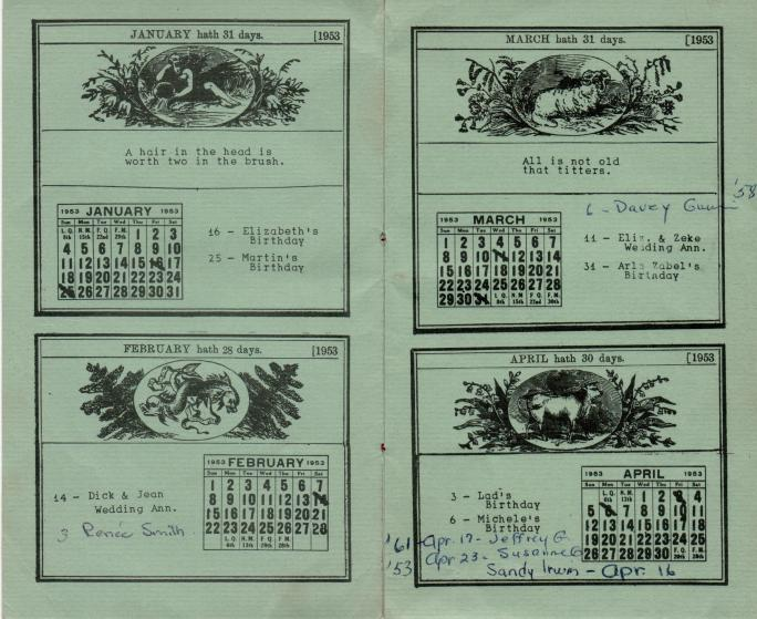 ADG - 1953 Christmas Card - Jan-April