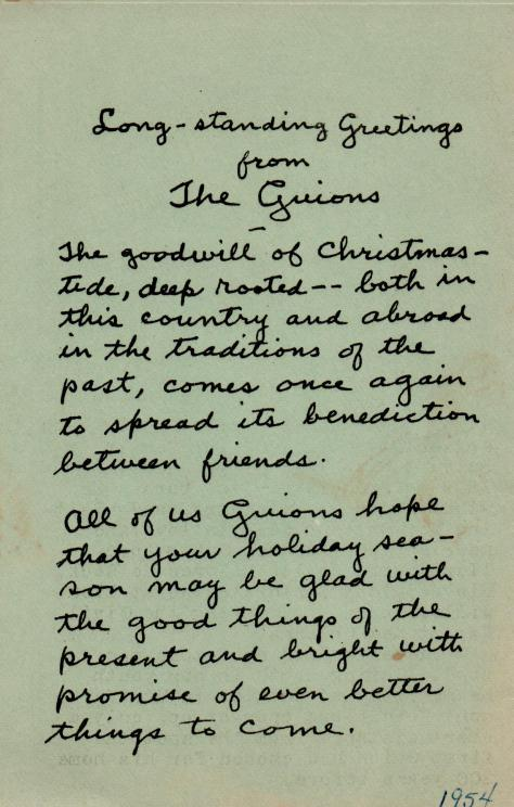 ADG - 1954 Christmas Card - Passport - Back cover