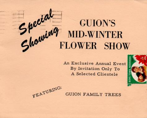 ADG - 1958 Christmas Card - Flower Show - cover