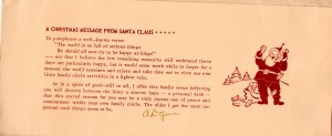 ADG - 1960 Christmas Card - Vignettes - message