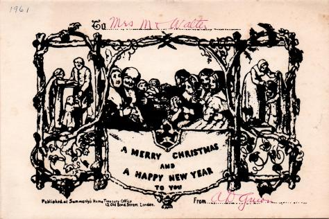 ADG - 1961 Christmas Card - History of Greeting Cards - front