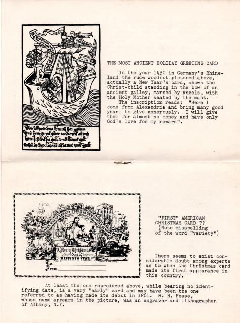 ADG - 1961 Christmas Card - History of Greeting Cards - page 2