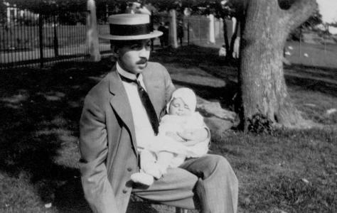 ADG - Grandpa and Lad (seated)  - July 26, 1914